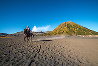 Horse rider at Bromo Mountain
