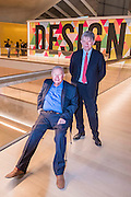 Sir Terrance Conran, founder and  Deyan Sudjic, Director - The Design Museum has moved to Kensington High Street from its former home as an established London landmark on the banks of the river Thames.  The new museum will be devoted to contemporary design and architecture, an international showcase for the many design skills at which Britain excels and a creative centre, promoting innovation and nurturing the next generation of design talent. His Royal Highness toured the museum to view the transformation of a modernist building from the 1960s, which was the former Commonwealth Institute.  17  November 2016, London.