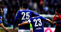 Fotball<br /> Tippeligaen<br /> Ullevål  Stadion 25.04.10<br /> Arm i arm etter scoring , ryggene til Mohammed Abdellaoue og Kristofer Hæstad<br /> Foto: Eirik Førde
