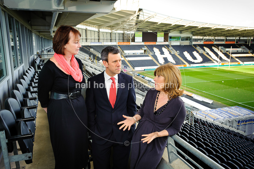Kcom, Teen Tech, a young enterprise event to be held in July 2011, run by Humber Education Business Partnership. Pictured Sandra Cooper (Humber EBP), Sean Royce (Kcom), Maggie Philbin