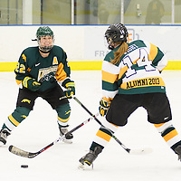 5th year defender Alexis Larson (22) of the Regina Cougars in action during the preseason Cougars Alumni Game on September 30 at Co-Operators Centre. Credit: Arthur Ward/Arthur Images
