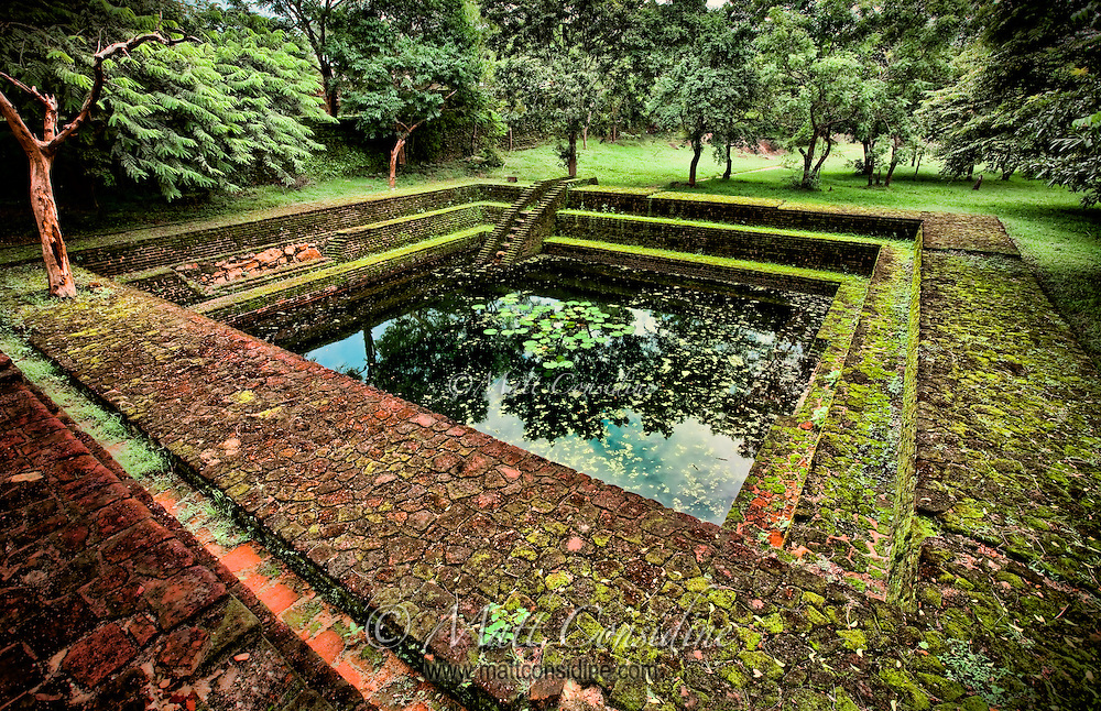 Amongst the ruins of an old city lies this ancient pool, thought to be reserved for royalty.<br /> (Photo by Matt Considine - Images of Asia Collection)