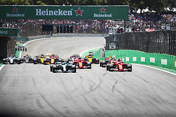 November 12, 2017 - Sao Paulo, Sao Paulo, Brazil - Nov, 2017 - Sao Paulo, Sao Paulo, Brazil - Pilots participate in the Brazilian Grand Prix of Formula One in the autodromo track of Interlagos in Sao Paulo. (Credit Image: © Marcelo Chello via ZUMA Wire)
