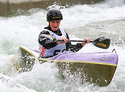 27.06.2015, Verbund Wasserarena, Wien, AUT, ICF, Kanu Wildwasser Weltmeisterschaft 2015, K1 women, im Bild Lydia Oxtoby (GBR) // during the final run in the women's K1 class of the ICF Wildwater Canoeing Sprint World Championships at the Verbund Wasserarena in Wien, Austria on 2015/06/27. EXPA Pictures © 2014, PhotoCredit: EXPA/ Sebastian Pucher
