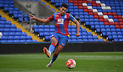 Ben Wynter plays from the back during the Final Third Development League match between U21 Crystal Palace and U21 Bristol City at Selhurst Park, London, England on 3 November 2015. Photo by Michael Hulf.