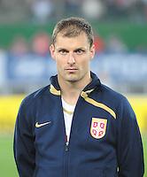 Fussball, WM Qualifikation 2010, Gruppe 7, Oesterreich - Sebien, Wien, 15.10.2008, Nemanja Vidic (Serbien)