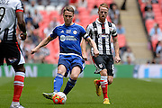 FC Halifax Town midfielder Jake Hibs during the FA Trophy match between Grimsby Town FC and Halifax Town at Wembley Stadium, London, England on 22 May 2016. Photo by Dennis Goodwin.