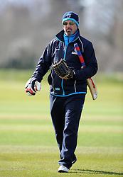 Somerset's Director of Cricket Matt Maynard - Photo mandatory by-line: Harry Trump/JMP - Mobile: 07966 386802 - 24/03/15 - SPORT - CRICKET - Pre Season Fixture - Day 2 - Somerset v Glamorgan - Taunton Vale Cricket Club, Somerset, England.