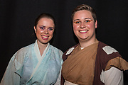 Amy Wardle as Yum Yum and Barnaby Wilson as Nanki-Poo. Southampton University Light Opera Society following their production of The Mikado on Thursday 10 August 2017 14:30 in the Savoy Theatre. 24th International Gilbert &amp; Sullivan Festival, Harrogate, North Yorkshire 04-20 August 2017 Photo by Jane Stokes<br /> <br /> Directors Billy Boulton &amp; George Smith<br /> Choreographer Renata Stella<br /> Musical Directors David Child &amp; Liam Chan<br /> Conductor David Child
