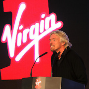 RICHARD BRANSON AT THE LAUNCH OF THE NEW VIRGIN ONE CHANNEL AT HIS HOME IN KIDLINGTON,OXFORD ..