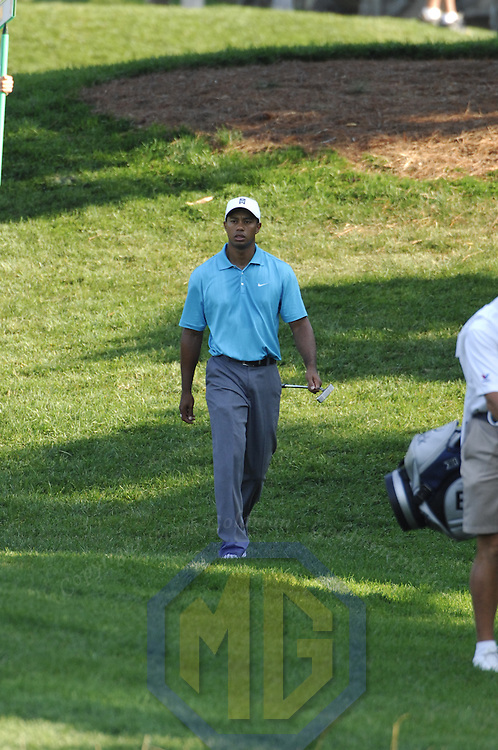 06 July 2007:  Tiger Woods walks to the green on the 10th hole in the second round of the inaugural AT&T National PGA event at Congressional Country Club in Bethesda, Md.  ****For Editorial Use Only****