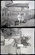 vintage little children playing outside 1920s