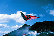 Robbie Naish, Windsurfing, Diamond Head, Oahu, Hawaii, No model  release editorial use only.
