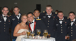 military wedding party