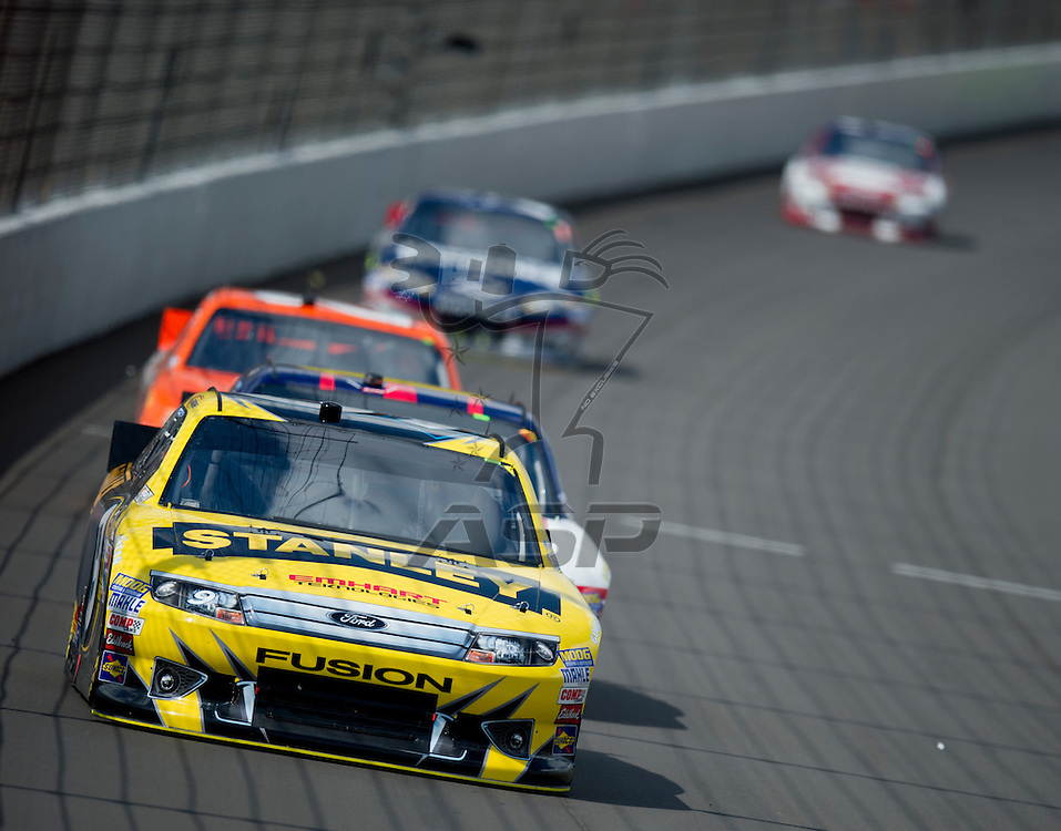 Brooklyn, MI - JUN 17, 2012: Marcos Ambrose (9) during the Sprint Cup Quicken Loans 400 at Michigan International Speedway in Brooklyn, MI.