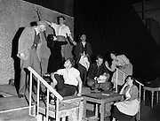 """13/8/1955<br /> 8/13/1955<br /> 13 August 1955 <br /> Abbey Theatre Players in Costume for New Play """"The Will And The Way""""."""
