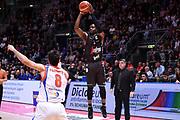 Michael Umeh<br /> Virtus Segafredo Bologna - Red October Cantu<br /> LegaBasket Serie A 2017/2018<br /> Bologna, 07/04/2018<br /> Foto M.Ceretti / Ciamillo - Castoria