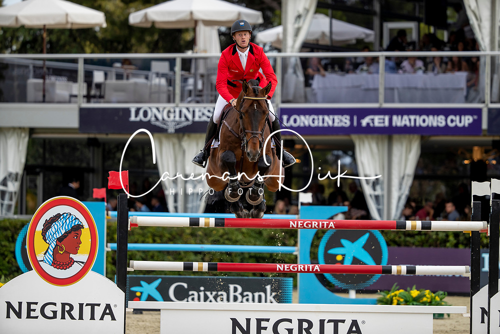 Bruynseels Niels, BEL, Jenson van't Meulenhof<br /> Longines FEI Jumping Nations Cup Final<br /> Challenge Cup - Barcelona 2019<br /> © Dirk Caremans<br />  06/10/2019