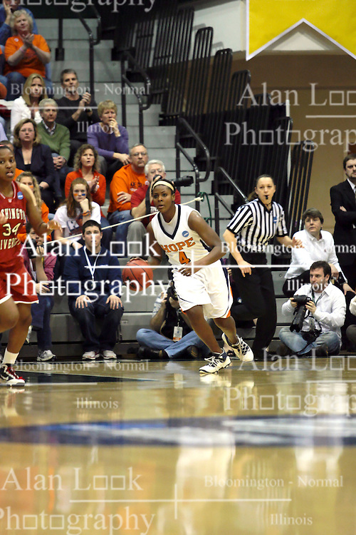 20 March 2010: Philana Greene. The Flying Dutch of Hope College fall to the Bears of Washington University 65-59 in the Championship Game of the Division 3 Women's NCAA Basketball Championship the at the Shirk Center at Illinois Wesleyan in Bloomington Illinois.