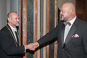PROF CHRISTOPHER LE BRUN; PAUL HEDGE, Royal Academy of Arts Annual dinner. Piccadilly. London. 29 May 2012.