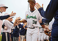 Kernels right fielder Adam Brett Walker II (38) takes the field before the start of a game between the Cedar Rapids Kernels and the Quad Cities River Bandits at Veterans Memorial Stadium in Cedar Rapids, Iowa on June 5, 2013.