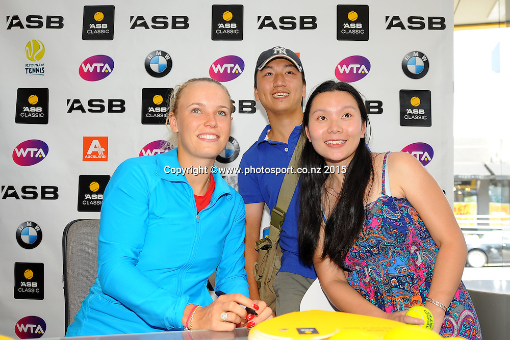 Caroline Wozniacki (DEN) at a signing appearance at ASB Bank Broadway.  ASB Classic Women's International. Auckland, New Zealand. Sunday 4 January 2015. Photo: Chris Symes/www.photosport.co.nz