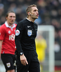 Referee, Craig Pawson    - Photo mandatory by-line: Joe Meredith/JMP - Mobile: 07966 386802 - 07/02/2015 - SPORT - Football - Milton Keynes - Stadium MK - MK Dons v Bristol City - Sky Bet League One