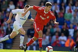 BIRKENHEAD, ENGLAND - Saturday, July 12, 2008: Liverpool's Ryan Flynn during his side's first pre-season match of the 2008/2009 season against Tranmere Rovers at Prenton Park. (Photo by David Rawcliffe/Propaganda)