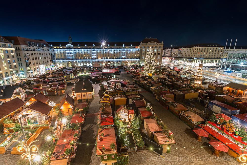 Christmas market in Dresden Altmarkt square