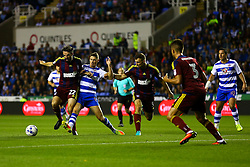 Jonathan Douglas of Ipswich Town blocks George Evans of Reading - Mandatory by-line: Jason Brown/JMP - 09/09/2016 - FOOTBALL - Madejski Stadium - Reading, England - Reading v Ipswich Town - Sky Bet Championship