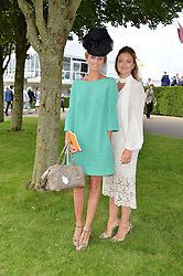 Left to right, BRYONY DANIELS and LADY NATASHA FINCH at day 3 of the Qatar Glorious Goodwood Festival at Goodwood Racecourse, Chechester, West Sussex on 28th July 2016.