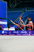 Gergalo Rebecca during the qualification of the hoop at the Pesaro World Cup 2018.<br /> She was born in Finland in Finland in 2000. Her dream is to participate in the 2020 Olympic Games in Tokyo.