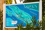 Welcome sign and map at Sipanska Luka, Sipan Island, Dalmatian Coast, Croatia