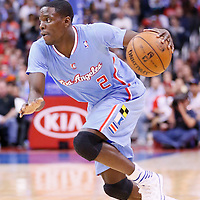 24 November 2013: Los Angeles Clippers point guard Darren Collison (2) dribbles during the Los Angeles Clippers 121-82 victory over the Chicago Bulls at the Staples Center, Los Angeles, California, USA.