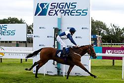 Lovers' Gait ridden by L P Keniry trained by Daniel Kulbler wins the visitbath.co.uk Fillies' Handicap - Mandatory by-line: Robbie Stephenson/JMP - 06/08/2020 - HORSE RACING - Bath Racecourse - Bath, England - Bath Races