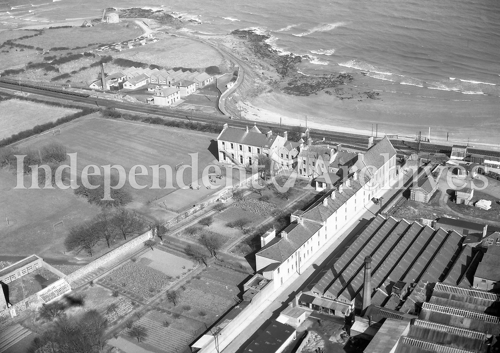 A272 Loreto, Balbriggan.   13/07/56. (Part of the Independent Newspapers Ireland/NLI collection.)<br /> <br /> <br /> These aerial views of Ireland from the Morgan Collection were taken during the mid-1950's, comprising medium and low altitude black-and-white birds-eye views of places and events, many of which were commissioned by clients. From 1951 to 1958 a different aerial picture was published each Friday in the Irish Independent in a series called, 'Views from the Air'.
