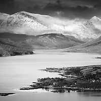 A mono take this time of the stunning Loch Etive looking north. This was a great spot to take in the length and breadth of the water, the view towards the Bidean nam Bian ridge was all the more incredible for the light that payed across the profile of these mighty mountains. I was doubly rewarded by sighting three golden eagles (possibly the same one doing circuits) at different times flying down the length of the loch, amazing creatures