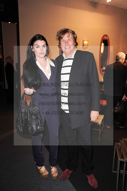 VIP reception of the Pavilion of Art & Design London 2010 held in Berkeley Square, London on 12th October 2010.<br /> Picture Shows:-THEO FENNELL and his daughter COCO FENNELL.