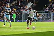 Fulham FC forward Sone Aluko (24) makes a break during the EFL Sky Bet Championship match between Fulham and Queens Park Rangers at Craven Cottage, London, England on 1 October 2016. Photo by Jon Bromley.