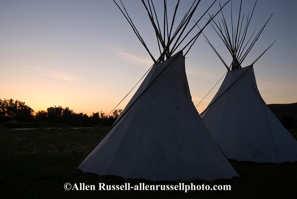 Crow Indian Reservation, Montana, tipi