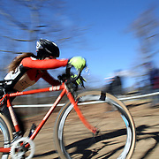 A competitor in action during the Cyclo-Cross, Supercross Cup 2013 UCI Weekend at the Anthony Wayne Recreation Area, Stony Point, New York. USA. 24th November 2013. Photo Tim Clayton