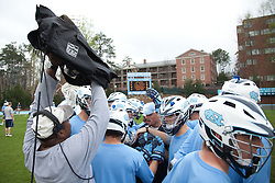 28 March 2009: North Carolina Tar Heels before a 10-9 overtime win over the Johns Hopkins Blue Jays on Fetzer Field in Chapel Hill, NC.