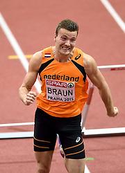 08-03-2015 CZE: European Athletics Indoor Championships, Prague<br /> Pieter Braun NED