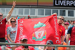 July 22, 2018 - Charlotte, NC, U.S. - CHARLOTTE, NC - JULY 22: Liverpool fans during the International Champions Cup match between Liverpool FC and Borussia Dortmund on July 22, 2018 at Bank of America Stadium in Charlotte, NC.(Photo by Jaylynn Nash/Icon Sportswire) (Credit Image: © Jaylynn Nash/Icon SMI via ZUMA Press)
