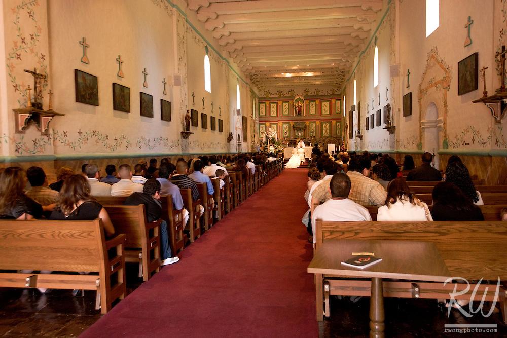 Wedding in Chapel at Mission Santa Ines, Solvang, California