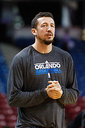 Jan 8, 2012; Sacramento, CA, USA; Orlando Magic small forward Hedo Turkoglu (15) warms up before the game against the Sacramento Kings at Power Balance Pavilion. Mandatory Credit: Jason O. Watson-US PRESSWIRE