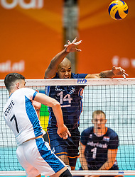 06-09-2018 NED: Netherlands - Argentina, Doetinchem<br /> First match of Gelderland Cup / /Facundo Conte #7 of Argentina, Nimir Abdelaziz #14 of Netherlands