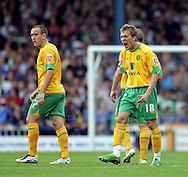 Cardiff - Saturday August 23rd, 2008: Arturo Lupoli of Norwich City celebrates his first goal (2-1) during the Coca Cola Championship match at The Ninian Park, Cardiff. (Pic by Paul Hollands/Focus Images)