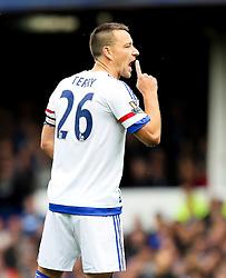 Chelsea Captain, John Terry gestures to his team mates - Mandatory byline: Matt McNulty/JMP - 07966386802 - 12/09/2015 - FOOTBALL - Goodison Park -Everton,England - Everton v Chelsea - Barclays Premier League