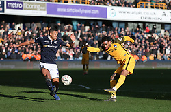 Jurgen Locadia of Brighton and Hove Albion shoots - Mandatory by-line: Arron Gent/JMP - 17/03/2019 - FOOTBALL - The Den - London, England - Millwall v Brighton and Hove Albion - Emirates FA Cup Quarter Final